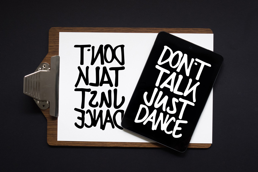 Design von die.ende: Don't talk, Just Dance